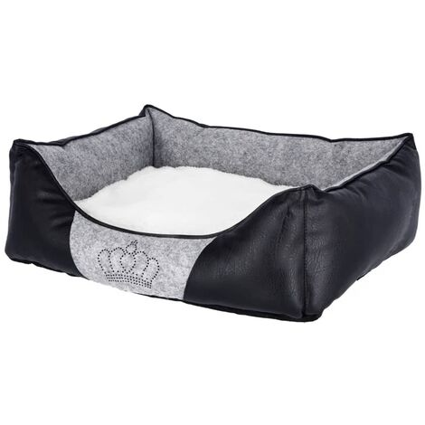 Kerbl Cama para perros Chiara 42x32 cm gris y negro 80360