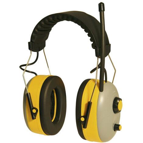 Kerbl Casque de protection auditive avec radio stéréo FM