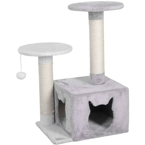 Kerbl Cat Tree Saphir Light 80cm White and Grey - Multicolour