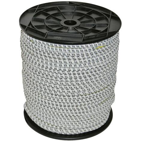 Kerbl Corde de clôture électrique en caoutchouc 50 m 7 mm 441891