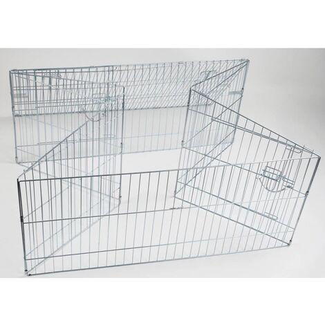 Kerbl Corral para mascotas al aire libre Easy metal plateado 82845