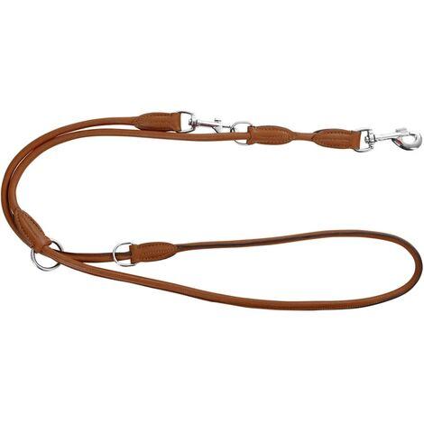 Kerbl Correa para perro Roma 2 m cuero marrón 81098