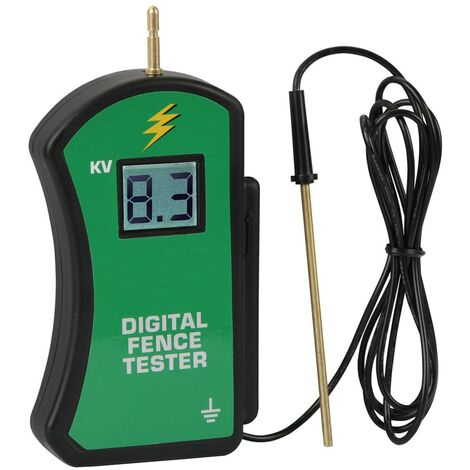 Kerbl Digital Fence Tester 9900 V Black and Green 441229