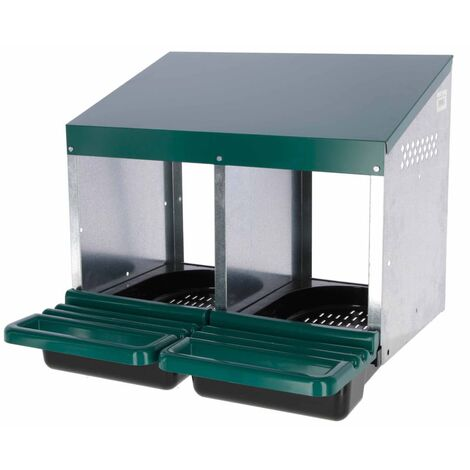 Kerbl Double Chicken Laying Nest 53x52x43.5 cm Plastic Green