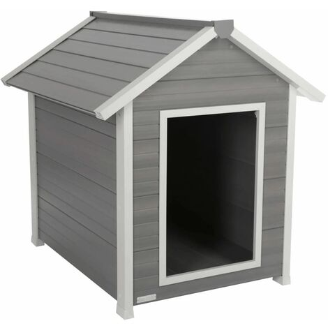 Kerbl ECO Caseta para perros Hendry gris y blanca 88x98x101 cm