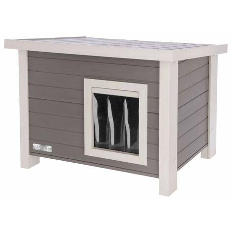 Kerbl ECO Cat House Eli 57x45x43cm Grey and White - Grey