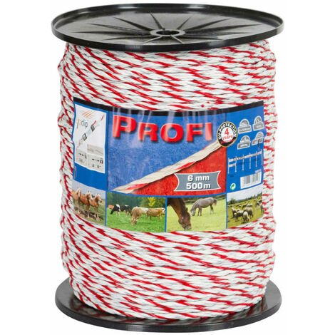 Kerbl Electric Fence Rope Profi PE 500 m 59510 - White