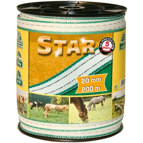 Kerbl Electric Fence Tape Star PE 200 m 20 mm 441502 - White