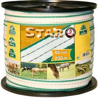 Kerbl Electric Fence Tape Star PE 200 m 40 mm 441503