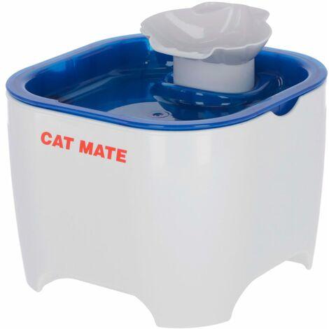 Kerbl Fuente para mascotas Cat Mate blanco y azul 19x19x14,5 cm - Multicolor