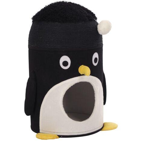 Kerbl Grotte pour chats Pingu 50 cm Noir et blanc