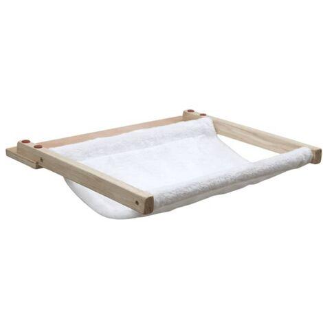 Kerbl Hamaca de pared para gatos Dolomit 45x40 cm blanca 81504