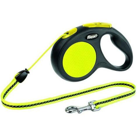 KERBL Laisse-corde Flexi GiantNeon M - Longueur : 5 m - Poids max : 20 kg - Pour chien