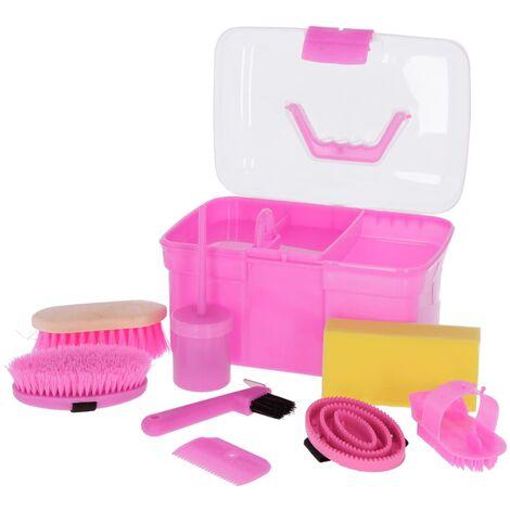 Kerbl Mini Grooming Box with 8 Tools Purple 321765