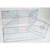 Kerbl Outdoor Pet Enclosure Easy Metal Silver 82845