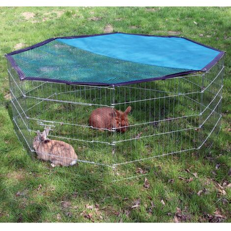 Kerbl Outdoor Pet Enclosure Octagonal 82708 - Silver