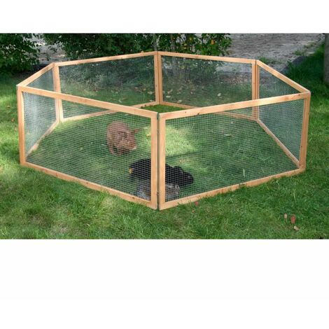 Kerbl Outdoor Pet Enclosure Vario Wood Brown 84399 - Brown