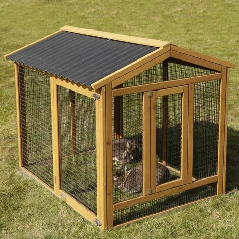 Kerbl Pro Rabbit Enclosure 115x85x90 cm Wood 81720 - Brown