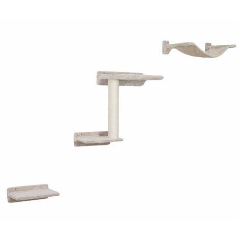 Kerbl Rascador de pared para gatos Zugspitze madera beige