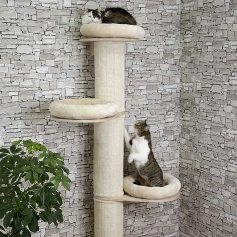 Kerbl Rascador para gatos Dolomit Tower beige 187 cm