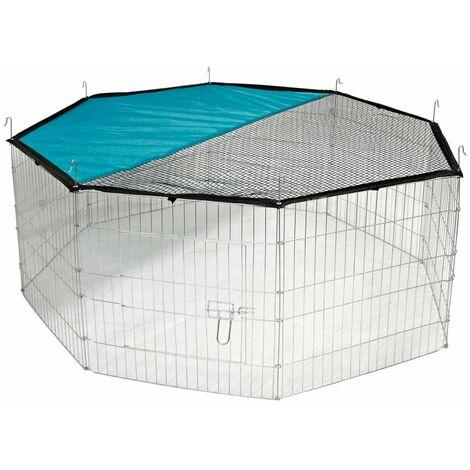 Kerbl recinto octogonal cerrado de exterior para mascotas 82708