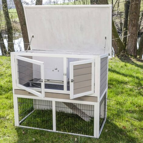 Kerbl Rodent House with Metal Bottom Lucky White 115x65x100 cm - Multicolour