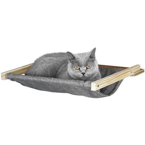 Kerbl Wall-Mounted Cat Hammock Tofana 45x40 cm Grey 81544 - Grey