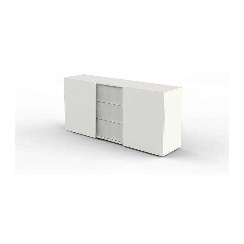 Sideboard M-ove H740xB1600xT500mm weiß 2 Türen,3 Schubl.mittig