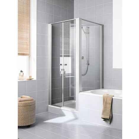 Kermi Seitenwand Ibiza 2000 TVR 0800x 1600 BV: 770-800 WEI ESG klar Clean