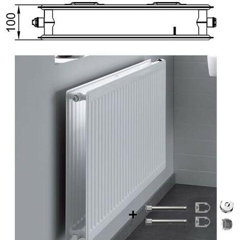 zweireihig ohne Konvektor Kermi therm-x2 Plan-Kompakt-Hygieneheizkörper Typ 20