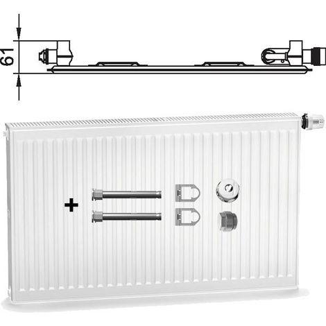 KERMI Profil Ventilheizkörper Typ 22  Bh 600 x Bl  400 mm  links