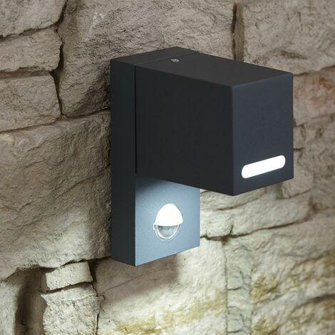 Kernhof Lámpara de Pared GU10 Exteriores 35W Sensor PIR Incorporado (Antracita)