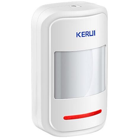 "main image of ""KERUI P819 433MHz Wireless Intelligent PIR Motion Sensor Alarm Detector For Home Burglar Alarm Security System,White,model:White"""
