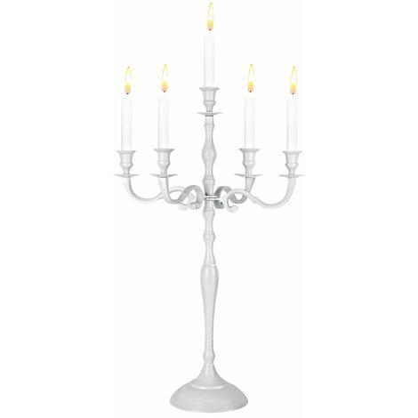 Kerzenleuchter Kerzenständer Kerzenhalter 5-armig 40 60 80cm in weiß gold silber