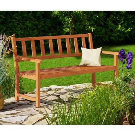 Kesington Garden Bench Acacia Wood 2 Seater Park Bench Outdoor Furniture