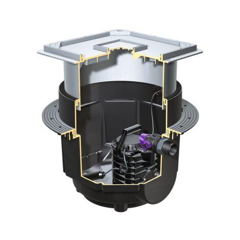 KESSEL Aqualift S Hebeanlage für Schmutzwasser mit Kunststoffschacht für Unterflurinstallation 28500
