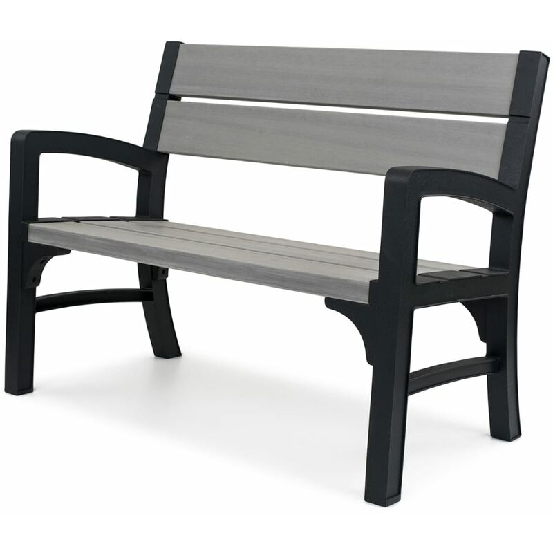 Keter 2 Seater Garden Bench Montero Grey 233309