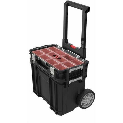 Keter 239996 Connect - Valise à outils + compartiments - noir/rouge
