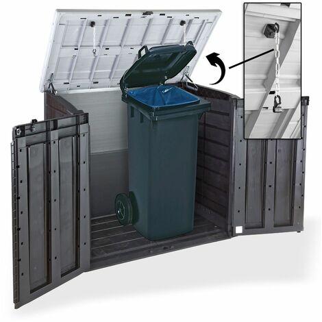 Keter 6028 Mülltonnenbox Mülltonnenverkleidung Mülltonnen Sichtschutz 2 x 240 L