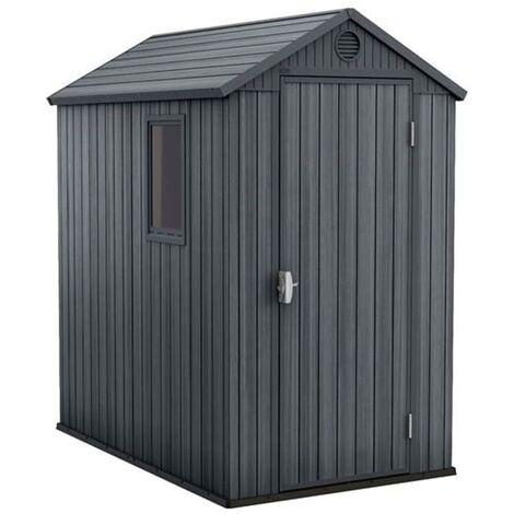 Keter Abri de jardin Darwin 4x6 Gris Aspect de bois