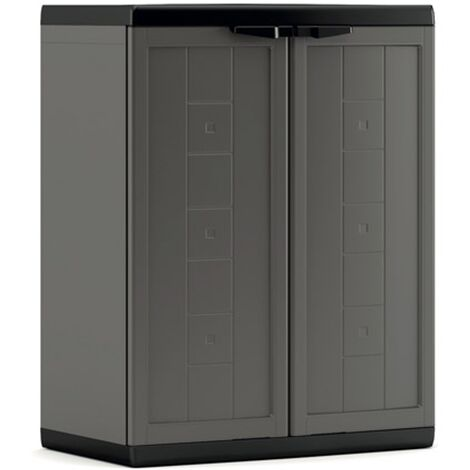 KETER | Armoire basse JOLLY , Blanc-Gris
