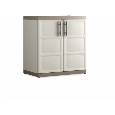KETER | Armoire basse XL EXCELLENCE , Sable/Terre - Sable/Terre
