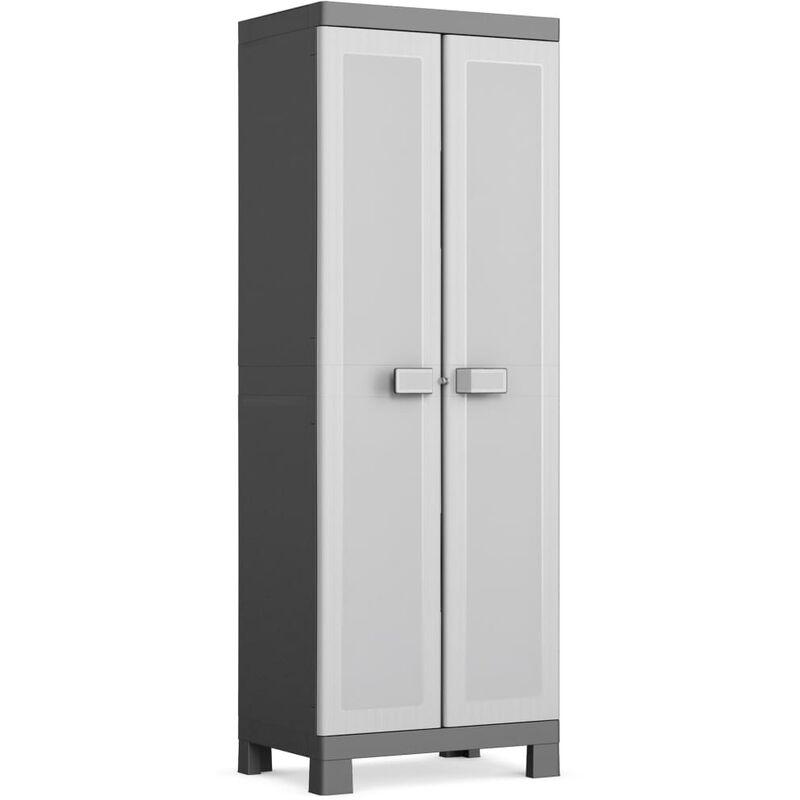 Keter Armoire de rangement polyvalente Logico Noir et gris 182 cm