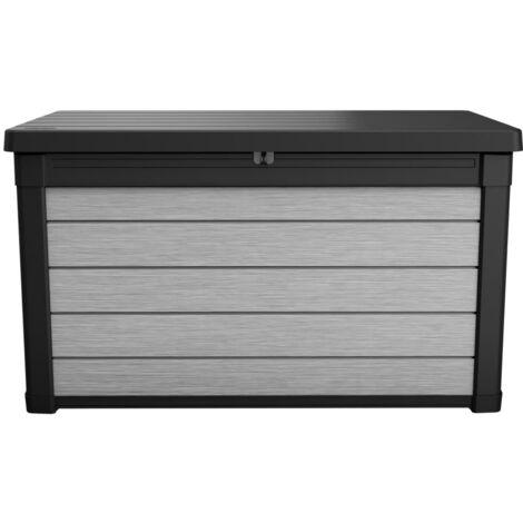 Keter Caja de almacenamiento para jardín Denail gris antracita 380 L - Gris
