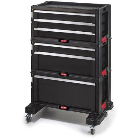 Keter Chariot d'atelier 6 tiroirs - All Drawer - 59,8 x 37,7 x 83,2 cm