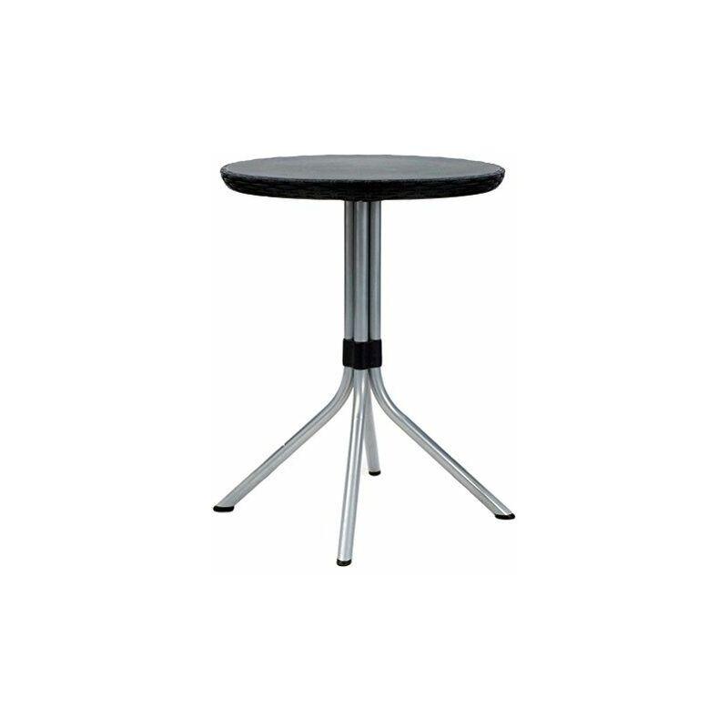 Jersey – Table et chaises de Jardin en rotin, 4 Places Set 2 Places 2 Places Gris - Keter