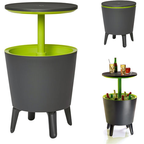 Keter Cool Bar Patio Table Cooler Ice Box Outdoor 30L Grey Green
