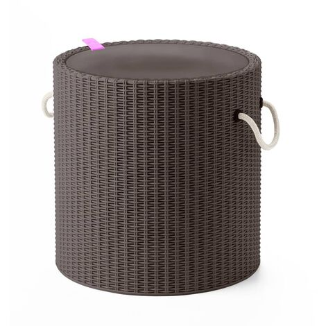 Keter Cool Stool with Rope Handles Taupe 219430