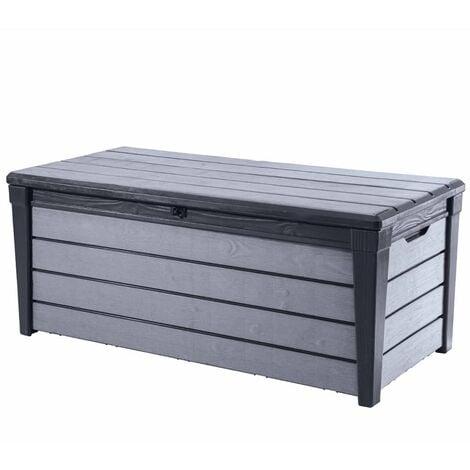 Keter Garden Storage Box Brushwood 455 L Anthracite - Grey