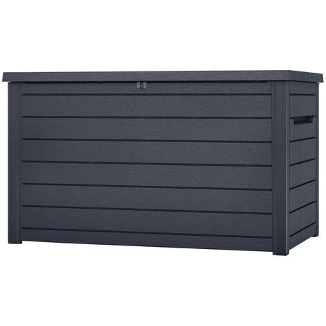 Keter Garden Storage Box Ontario 870L Anthracite - Grey